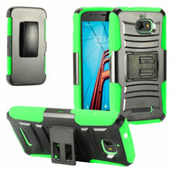 *SALE* Advanced Armor Hybrid Kickstand Case with Holster for Coolpad Defiant - Black Green