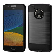 Brushed Hybrid Armor Case for Motorola Moto E4 / G5 - Black