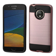 Brushed Hybrid Armor Case for Motorola Moto E4 / G5 - Rose Gold