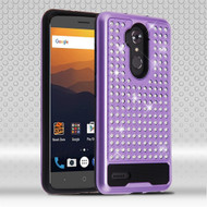 Luxury Bling Diamond Hybrid Case for ZTE Max XL - Purple