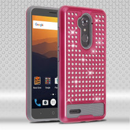 Luxury Bling Diamond Hybrid Case for ZTE Max XL - Hot Pink