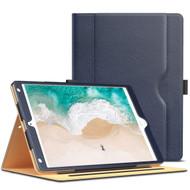 Slim Folding Stand Smart Leather Folio Case with Auto Wake / Sleep for iPad Pro 10.5 inch - Navy Blue