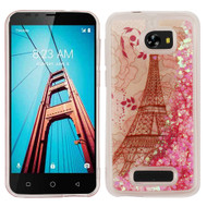 Quicksand Glitter Transparent Case for Coolpad Defiant - Eiffel Tower