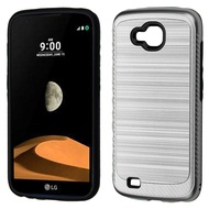 *Sale* Brushed Multi-Layer Hybrid Armor Case for LG X Calibur / X Venture - Silver