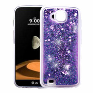Quicksand Glitter Transparent Case for LG X Calibur / X Venture - Purple