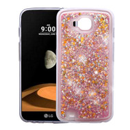 *Sale* Quicksand Glitter Transparent Case for LG X Calibur / X Venture - Pink