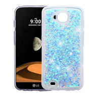 Quicksand Glitter Transparent Case for LG X Calibur / X Venture - Blue