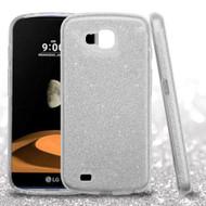 Full Glitter Hybrid Protective Case for LG X Calibur / X Venture - Silver