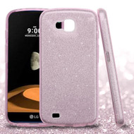 *Sale* Full Glitter Hybrid Protective Case for LG X Calibur / X Venture - Pink