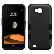 Military Grade Certified TUFF Hybrid Armor Case for LG X Calibur / X Venture - Black