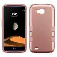 Military Grade Certified TUFF Hybrid Armor Case for LG X Calibur / X Venture - Rose Gold