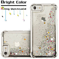 Confetti Quicksand Glitter Electroplating Transparent Case for iPhone 8 / 7 / 6S / 6 - Silver