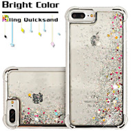 Confetti Quicksand Glitter Electroplating Transparent Case for iPhone 6 Plus / 6S Plus / 7 Plus - Silver