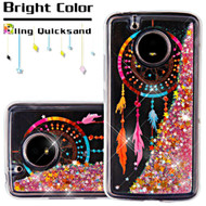 *SALE* Quicksand Glitter Transparent Case for Motorola Moto E4 - Dreamcatcher