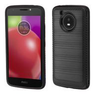 Brushed Multi-Layer Hybrid Armor Case for Motorola Moto E4 - Black