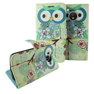 *SALE* Designer Graphic Leather Wallet Stand Case for Motorola Moto E4 - Owl