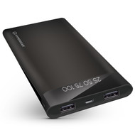 HyperGear Portable 16000mAh Power Bank Dual USB Battery with Digital Battery Indicator - Black