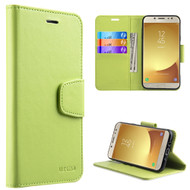Urban Classic Leather Wallet Case for Samsung Galaxy J7 (2017) / J7 V / J7 Perx - Green