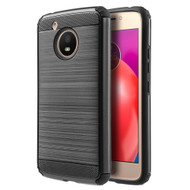 Brushed Texture Armor Anti Shock Hybrid Case for Motorola Moto E4 - Black