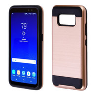 Brushed Hybrid Armor Case for Samsung Galaxy S8 Active - Rose Gold