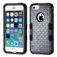 Military Grade Certified TUFF Image Hybrid Case for iPhone SE / 5S / 5 - Diamond Plate