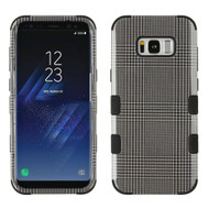 Military Grade Certified TUFF Image Hybrid Armor Case for Samsung Galaxy S8 Plus - Grey Blazer