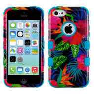 Military Grade Certified TUFF Image Hybrid Case for iPhone 5C - Electric Hibiscus