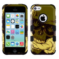 Military Grade Certified TUFF Image Hybrid Case for iPhone 5C - Cannabis Skull