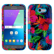 Military Grade TUFF Case for Samsung Galaxy J3 (2017) / J3 Emerge / J3 Prime / Amp Prime 2 / Sol 2 - Electric Hibiscus