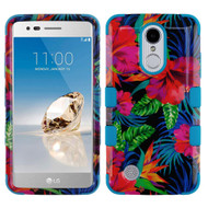 Military Grade TUFF Image Hybrid Armor Case for LG Aristo / Fortune / K8 2017 / Phoenix 3 - Electric Hibiscus