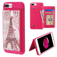 Pocket Wallet Case with Stand for iPhone 8 Plus / 7 Plus / 6S Plus / 6 Plus - Eiffel Tower