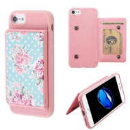 Pocket Wallet Case with Stand for iPhone 8 / 7 / 6S / 6 - Roses