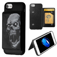 Pocket Wallet Case with Stand for iPhone 8 / 7 / 6S / 6 - Vampire