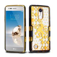 TUFF Panoview Transparent Hybrid Case for LG Aristo / Fortune / K8 2017 / Phoenix 3 - Lion Crest
