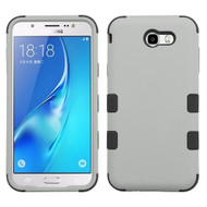 Military Grade Certified TUFF Hybrid Armor Case for Samsung Galaxy J7 (2017) / J7 V / J7 Perx - Grey