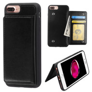 Pocket Wallet Case with Stand for iPhone 8 Plus / 7 Plus / 6S Plus / 6 Plus - Black