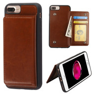 Pocket Wallet Case with Stand for iPhone 8 Plus / 7 Plus / 6S Plus / 6 Plus - Brown