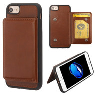 Pocket Wallet Case with Stand for iPhone 8 / 7 / 6S / 6 - Brown