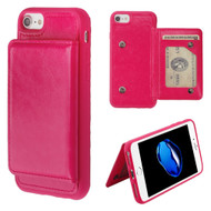 Pocket Wallet Case with Stand for iPhone 8 / 7 / 6S / 6 - Hot Pink