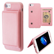 Pocket Wallet Case with Stand for iPhone 8 / 7 / 6S / 6 - Pink