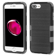 Military Grade Certified Brushed TUFF Hybrid Armor Case for iPhone 8 Plus / 7 Plus / 6S Plus / 6 Plus - Black Grey