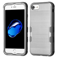 Military Grade Certified Brushed TUFF Hybrid Armor Case for iPhone 8 / 7 / 6S / 6 - Grey