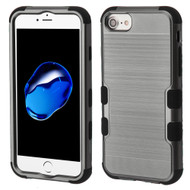 Military Grade Certified Brushed TUFF Hybrid Armor Case for iPhone 8 / 7 / 6S / 6 - Dark Grey