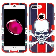 Military Grade Certified TUFF Image Hybrid Armor Case for iPhone 8 Plus / 7 Plus - Union Jack Skull