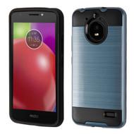 Brushed Hybrid Armor Case for Motorola Moto E4 - Ink Blue