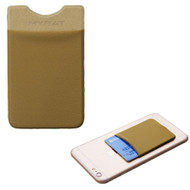 Micro-Fiber Adhesive Card Pocket Pouch - Brown