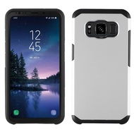 Hybrid Multi-Layer Armor Case for Samsung Galaxy S8 Active - Silver