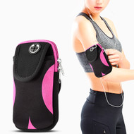 Universal Sports Neoprene Armband Pouch - Black Hot Pink