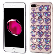 *Sale* 3D Heart Candy Case for iPhone 8 Plus / 7 Plus - Purple