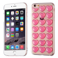3D Heart Candy Case for iPhone 6 Plus / 6S Plus - Hot Pink